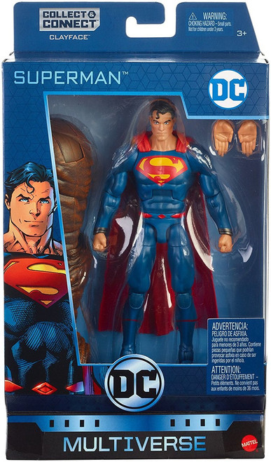 """Highly detailed DC Superman action figure from rebirth 20 points of articulation enable epic battle play and action posing Includes a bonus piece to collect, connect with other assortment figures' bonus pieces and build a Clay face figure from rebirth. each figure sold separately, subject to availability Fans and collectors will love this highly detailed 6"""" Superman action figure Collect them all"""
