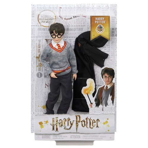 """Harry Potter doll has eleven """"joints"""" in the neck, shoulders, hips, knees, elbows and wrists, making him ready for action! Doll comes with the iconic wizard robe and a personalized wand, perfect for casting spells and expanding play. Dolls look just like their characters in Harry Potter: Chamber of Secrets and are dressed in their signature Hogwarts uniforms. Batteries not required"""