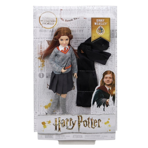 """Fans and collectors alike will love recreating their favourite scenes and imagining new ones with Harry Potter doll and his wizarding friends! Assortment includes Harry Potter, Ron Weasley, Hermione Granger and Ginny Weasley, along with Hogwarts' most iconic educators, Dumbledore and Professor McGonogall. Dolls look just like their characters in Harry Potter: Chamber of Secrets and are dressed in their signature Hogwarts uniforms. Ginny Weasley doll has eleven """"joints"""" -- in the neck, shoulders, hips, knees, elbows and wrists -- making her ready for action! Ginny Weasley doll comes the iconic wizard robe and a personalized wand -- perfect for casting spells (Expelliarmus!) and multiple play patterns."""