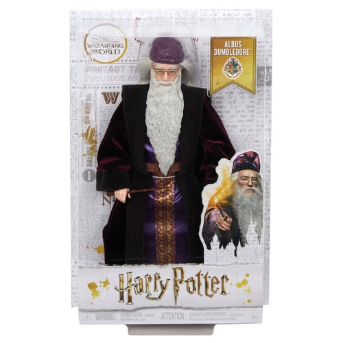 """Dumbledore doll has eleven """"joints"""" in the neck, shoulders, hips, knees, elbows and wrists, making him ready for action! Doll comes with the iconic wizard robe and a personalized wand, perfect for casting spells and expanding play. Dolls look just like their characters in Harry Potter: Chamber of Secrets and are dressed in their signature Hogwarts uniforms. Batteries not required"""
