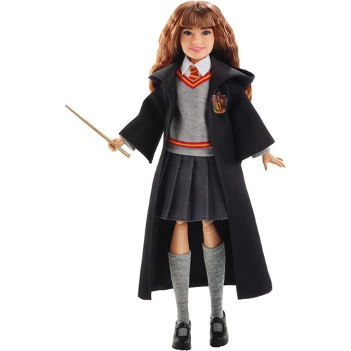 """Hermione Granger doll has eleven """"joints"""" in the neck, shoulders, hips, knees, elbows and wrists, making him ready for action! Doll comes with the iconic wizard robe and a personalized wand, perfect for casting spells and expanding play. Dolls look just like their characters in Harry Potter: Chamber of Secrets and are dressed in their signature Hogwarts uniforms. Batteries not required"""