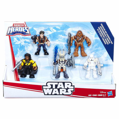 Includes Enfys Nest, Han Solo, Chewbacca, Lando Calrissian, and Range Trooper figures Figures have power up arms, removable arms that snap on and off Sized right for young Jedi Ages 3 to 7 years