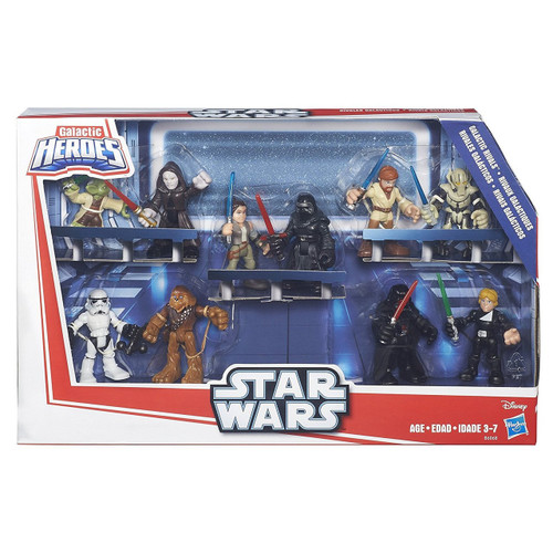 Create adventures and scenes from Star Wars entertainment Collect the wide range of articulated Star Wars action figures that are each sold separately Most of the Star Wars vehicles have realistic action features Pretend to be favorite characters with the role-play gear Battle as a Jedi or a Sith, a Rebel or Imperial trooper, a Battle Droid or Clone Trooper