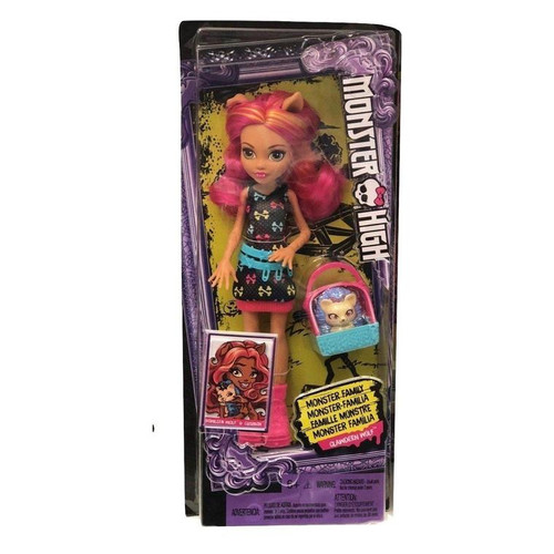 Monster High sibling doll and pet sets expand the Monster High family with new members to meet, love and add to your family The younger sister of Clawdeen Wolf, Howleen Wolf doll comes with her pet hedgehog figure and a pet carrier she can carry on one arm The 55-inch doll wears a monsterrific dress with an iconic print, bright belt and cool shoes; the pet carrier matches with bright colors and fangtastic decorations The young daughter of a werewolf shows her age and monsterrific legacy with large feet, furry details, fangs, wolf ears and pink and orange streaked hair Her pet beastie has purple hedgehog spikes, pretty pink eyes and a friendly expression that make it ahhh-dorable Collect all of the Monster High dolls and Playsets to play out family bonding because Everyone Is Welcome at Monster High (each sold separately, subject to availability)