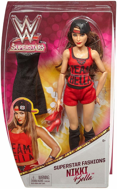 It's double the action and fashion with WWE Superstars Fashion Dolls who are fearlessly fashionable inside and outside of the ring! These approximately 12-inch WWE Superstars fashion dolls feature multiple points of articulation and amazing details! Each WWE Superstars doll comes with two fashion outfits and two pairs of shoes The first fashion is inspired by their look in the ring and the second fashion is inspired by WWE Superstars signature style outside of the ring Plus, these incredible dolls can also stand alone with their shoes on—perfect for recreating WWE Superstars action-fashion poses!