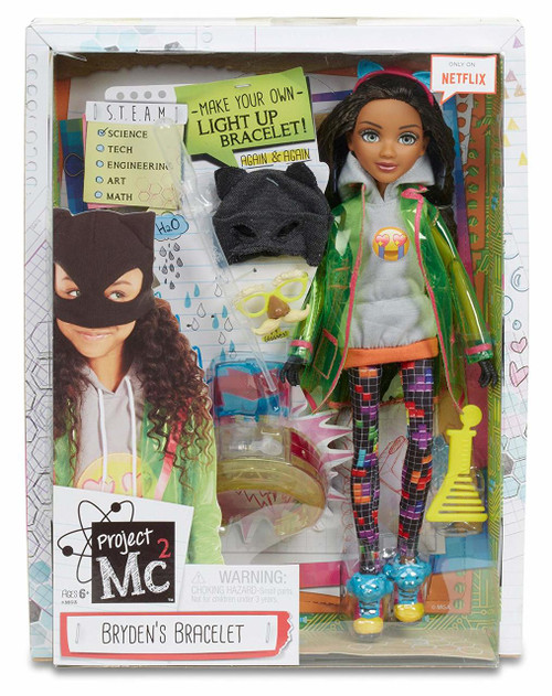 Make your own light up bracelet with Project Mc2 tech genius, Bryden Bandweth;Comes with premium articulated Bryden doll, dressed in a totally cool outfit;Also includes a fun science activity: light up bracelet and pipette to experiment again and again;Experiment uses just household ingredients;From the Netflix original series