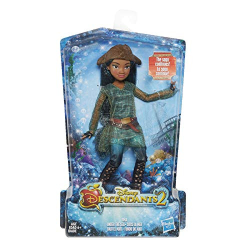Disney Descendants doll inspired by Uma of the Isle Doll comes wearing a stylish outfit with matching shoes and accessories Look for other Disney Descendants dolls (each sold separately) Includes doll, outfit, 2 accessories, and pair of shoes Ages 6 and up