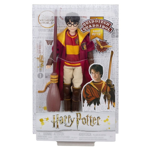 """Iconic details, like his scar and glasses, make Harry Potter Quidditch doll look just like his character in the beloved film series True-to-movie Quidditch accessories Eeven """"joints"""" that allow for maximum wizarding action Fans and collectors will love recreating action-packed Quidditch matches from the movies and imagining their own wizarding storylines with Harry Potter Quidditch doll Contents: A Harry Potter Quidditch Harry Doll"""