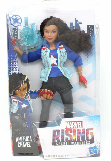 America Chavez In Super Hero Outfit Inspired by Marvel Rising Secret Warriors 11 Inch Scale Poseable With Multiple Points of Articulation