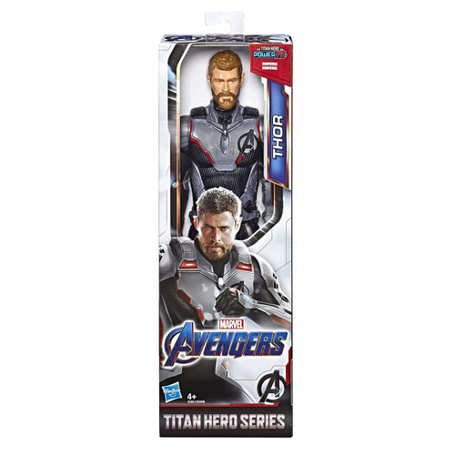 Connect Titan Hero Power Fx Launcher (not included) for Sounds and Phrases: Connect the Titan Hero Power FX Launcher (not included) to the action figure's arm port to activate sounds and phrases inspired by the Marvel movie and fire projectiles Marvel Movie-Inspired Design: Fans can imagine the action-packed scenes of the Marvel universe with this Thor figure, inspired by the Avengers: Endgame movie Compatible With Titan Hero Power Fx Launcher (not included): Connect to Titan Hero Series and Titan Hero Power FX figures (each sold separately) for sounds and phrases from the Avengers movies Look For Other Marvel Avengers Toys: Be on the lookout for other Marvel Avenger figures and gear to imagine forming a team of Avengers; additional products each sold separately; subject to availability