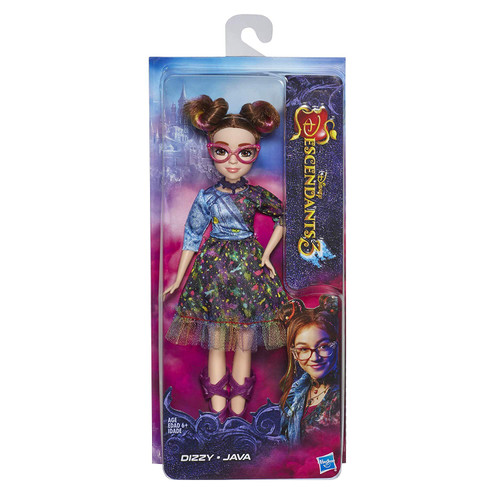 DIZZY FROM DISNEY'S DESCENDANTS 3: In Disney's Descendants 3, Dizzy is excited to start a new life on Auradon FASHION DOLL WITH ACCESSORIES: Dizzy figure includes doll, outfit, eyeglasses, necklace, and shoes for fashion play fun DISNEY'S DESCENDANTS 3 MOVIE: This Disney toy is inspired by Dizzy from Disney's Descendants 3 movie TOY FOR 6 YEAR OLDS AND UP: This Descendants fashion doll is an amazing birthday gift or holiday present for kids