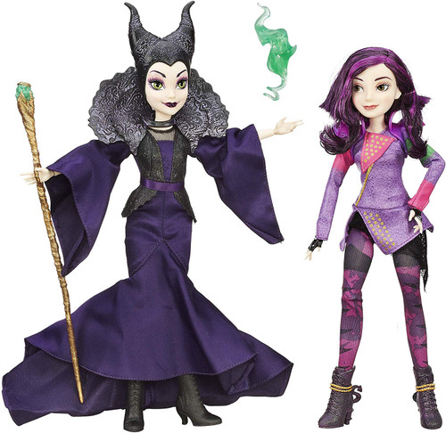 Comes with Mal, isle of the lost and her Mother, Maleficent Includes stylish, bold accessories
