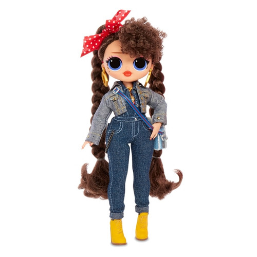 O.M.G. these sisters slay all day! L.O.L. Surprise! O.M.G. fashion dolls are the big sisters to L.O.L. Surprise! dolls, and they have stunning features and beautiful hair! Unbox 20 surprises, including fierce fashions and fabulous accessories. Her fashion pieces mix and match, so you can style her in a variety of looks. The package becomes a dressing room playset for even more fashion play! Collect all 4 dolls! Each sold separately!