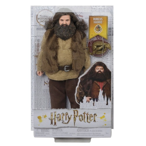 """Fans and collectors can relive their favourite movie moments and imagine their own magical stories with Harry Potter dolls Rubeus Hagrid doll comes dressed in his signature look, a belted shirt and vest, pants and boots. Special details, like his beard and curly hair, make him look just like his character in the celebrated film series. Includes a Norbert dragon hatchling accessory that adds to the storytelling fun With """"joints"""" in the neck, shoulders, hips, knees, elbows and wrists, Hagrid doll is fully poseable and ready for action-play. Harry Potter dolls make a great gift for fans 6 years old and up. Collect to build out the wizarding world and create your own magical stories (each sold separately, subject to availability)."""