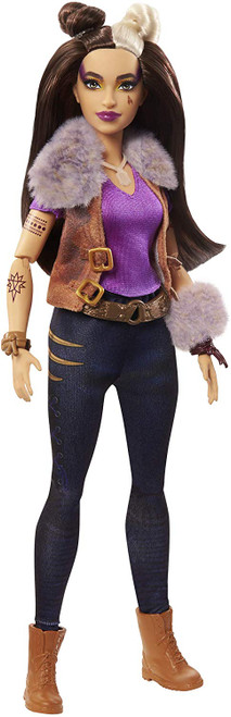 "Own the night with this Wynter werewolf doll (~11.5-in) from Disney's Zombies 2! With her sleek hairdo and fierce rocker style -she's made to look just like her character in the movie. Wynter doll wears a fur-collared vest, tank top, clawed-up jeans, belt, bracelets, boots, and iconic moonstone necklace. She can stand alone and has 11 bendable ""joints."" Howl, dance, or strike a pose! Play out favorite movie moments with Wynter doll and other characters like Addison, Zed, Willa, and Eliza."
