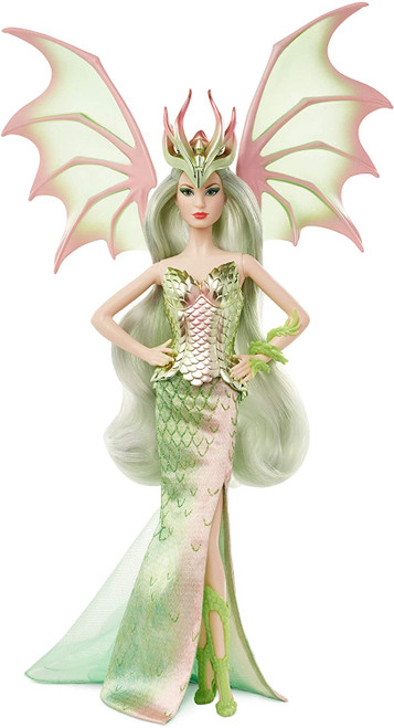 The third installment of the fashion-based Mythical Muse fantasy series features a collectible Barbie Mythical Muse doll with premium details and an enchanted look.