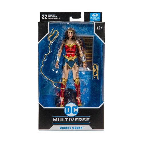 Incredibly detailed 18cm scale figure based from the DC Multiverse Wonder Woman figure based on the movie Wonder Woman 1984 Designed with Ultra Articulation with up to 22 moving parts for full range of posing and play Accessories include unfurled lasso, wrapped lasso, and base Includes collectible art card with Wonder Woman 1984 artwork on the front, and character biography on the back