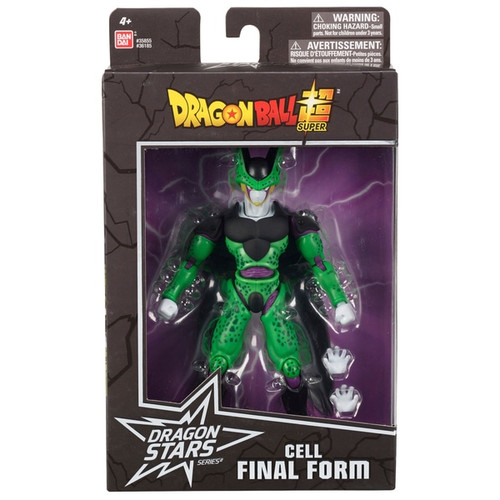 Includes 1 x 17cm Dragon ball dragon star Cell Final Form Highly detailed can take countless positions thanks to over 16 points of articulation Comes with extra set of hands Each figure comes in Premium collector packaging Perfect gift for all fans, players and collectors of the Dragon Ball super saga