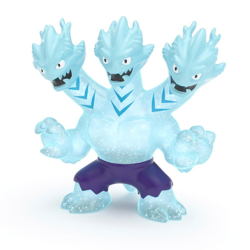 Contents: A Heroes of Goo Jit Zu Hydra Figure Heroes of Goo Jit Zu are back to battle. All new super squishy, stretchy heroes now with new fillings and new weapon fists Hydra The Three Headed Dragon outsmarts his opponent every time! Squeeze his body and see his super stretchy icy blue filling bulge out Now with new 'Water Blast Attack' Fill Hydra's three heads with water, aim and fire for some water battling action Heroes of Goo Jit Zu provide kids with a new GOOEY way to play with action heroes, with no mess! With the new range, they are now more durable than ever before You can stretch and squish your Goo Jit Zu Heroes and they will always come back to their original shape Dimensions: 15 L x 5.5 W x 11 H cm