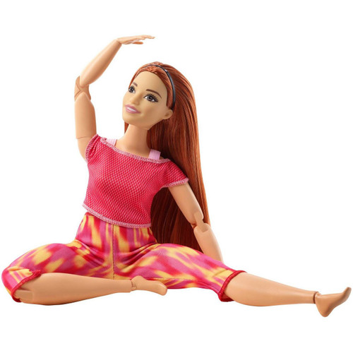 """Barbie Made to Move doll has 22 """"joints"""" -- in the neck, upper arms, elbows, wrists, torso, hips, upper legs, knees AND ankles -- for lots of flexibility and a range of motion that mimics realistic action!"""