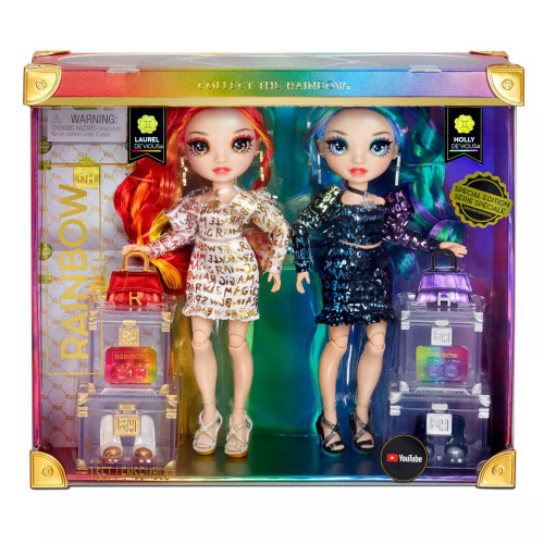 Rainbow High is introducing their first ever Twins. Whenever there's drama at high school or someone gets pinned the blame, be sure that these Twin sisters are always behind it. One is fiery while the other is cold as ice and they always carry the drama in their little bags with them.