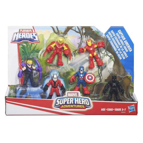 Imagine epic adventures Poseable arms and legs Includes 6 Marvel Super Hero figures Includes 6 figures