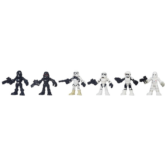 Fit for family fun Featuring familiar forces Fantastic figures for film fans Includes 6 figures. Action figure size: 3 inches