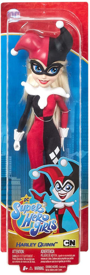 Unleash your inner super powers with these DC Super Hero Girls action dolls! Harley Quinn doll (~11.5 in.) comes in her iconic outfit with removable suit, jester hat, collar, bracelet, and shoes. Featuring a strong build, she can stand alone for powerful posing and action-Packed play. Fans will love recreating stories from the show or making up their own adventures. Mischievous, wacky, and a supreme prankster -Harley Quinn inspires kids to be true to themselves and have fun while doing it. For ages 6 and up.