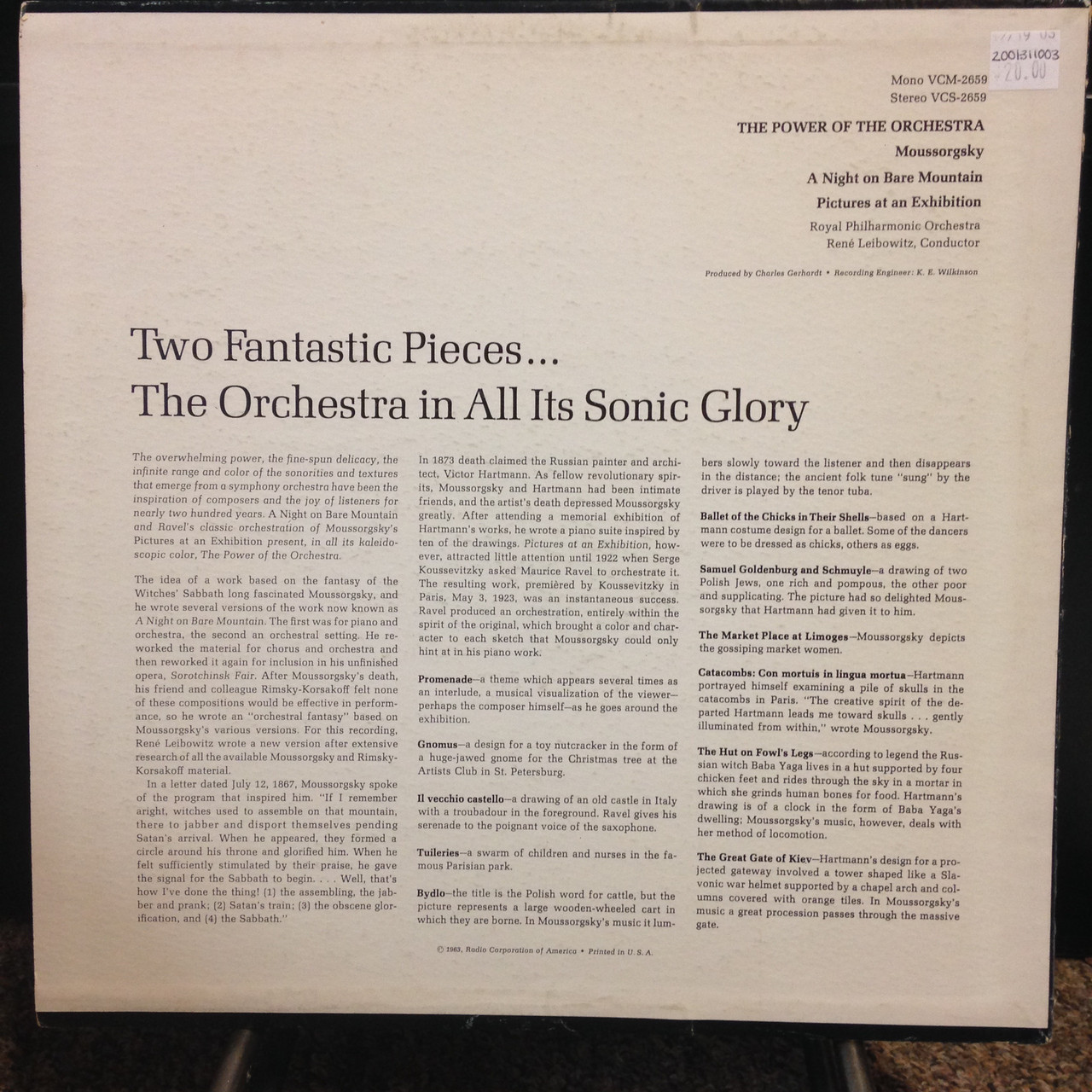 Moussorgsky The Power of Orchestra LP
