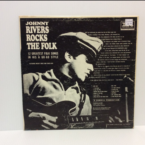 Johnny Rivers Rocks The Folk Stereo Shrink LP