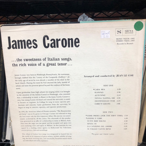 James Carone,  America's Greatest Tenor 3 Stooges