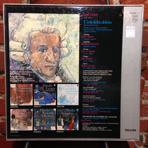 Haydn L'infedelta Delusa Dorati Mathis Hendricks 3 LP Set