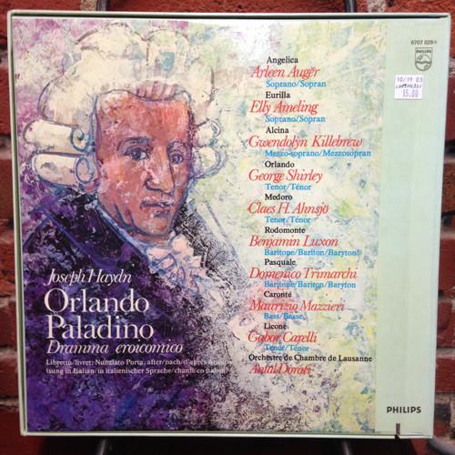 Haydn Orlando Paladino Auger Ameling Killebrew Dorati 4 LP Set
