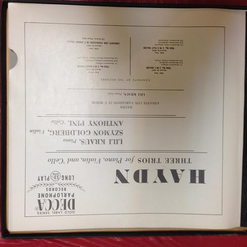 Haydn Three Trios Nr 2/3/5 Kraus Goldberg Pini Rare 2LP