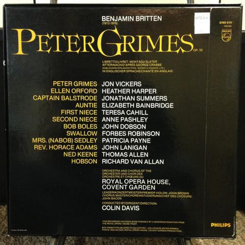 Britten Peter Grimes complete opera Colin Davis 3 LPs Philips 6769 014 Netherlands