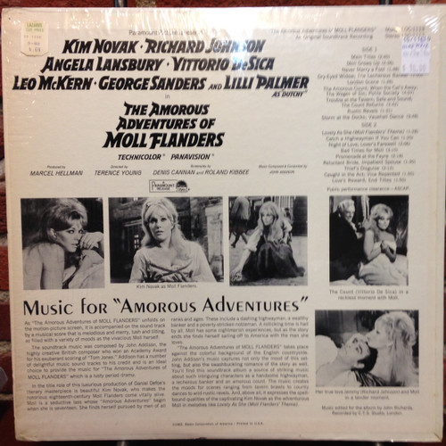 Amorous Adventures Of Moll Flanders Soundtrack LP