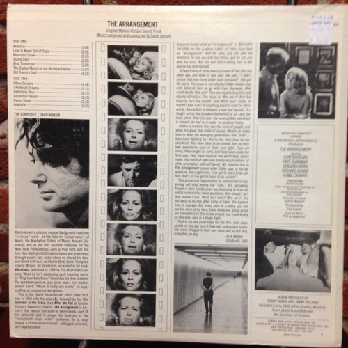 Arrangement Soundtrack White Label Promo LP