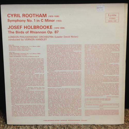 Rootham Symphony No. 1 & Holbrooke Birds of Rhiannon London PO Handley LP