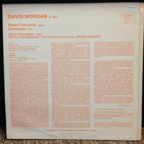 Morgan Violin Concerto Contrasts Royal PO Handley LP