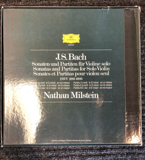 Bach Sonatas & Partitas Milstein 2709047 Germany 3 LP