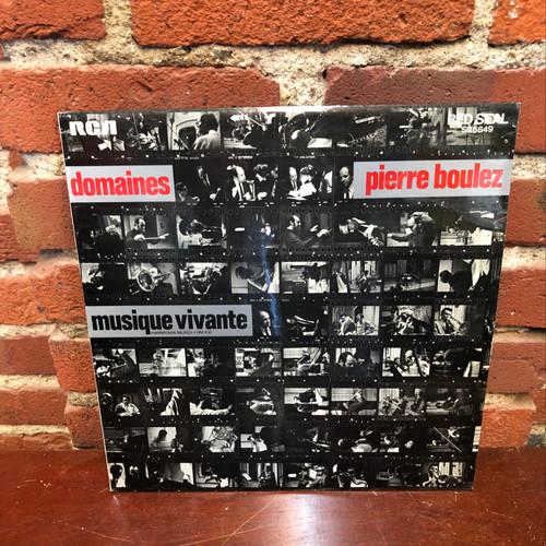 Boulez - Domaines  Ensemble Musique Vivante Masson UK LP