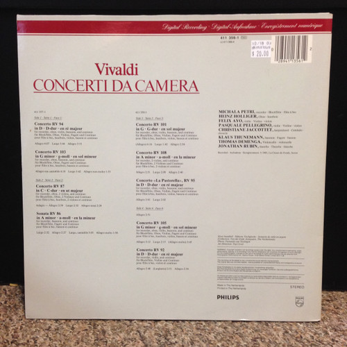 Vivaldi Concerto da Camera - Concertos for Recorder & Winds   LP