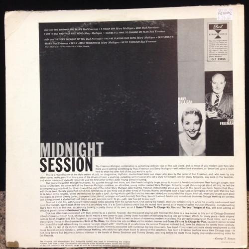 Mary Mulligan Bud Freeman Midnight Session Stereo LP