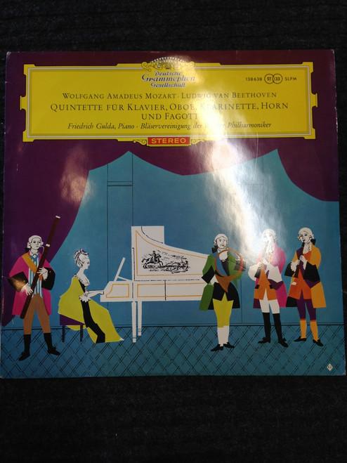 Mozart / Beethoven Wind Quintets  Tulip Rim DG  LP