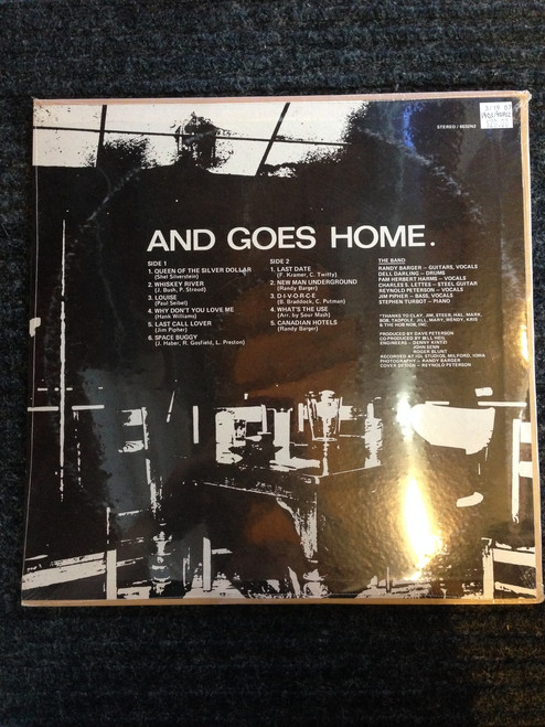Sour Mash Drinks And Goes Home Private Press Country LP