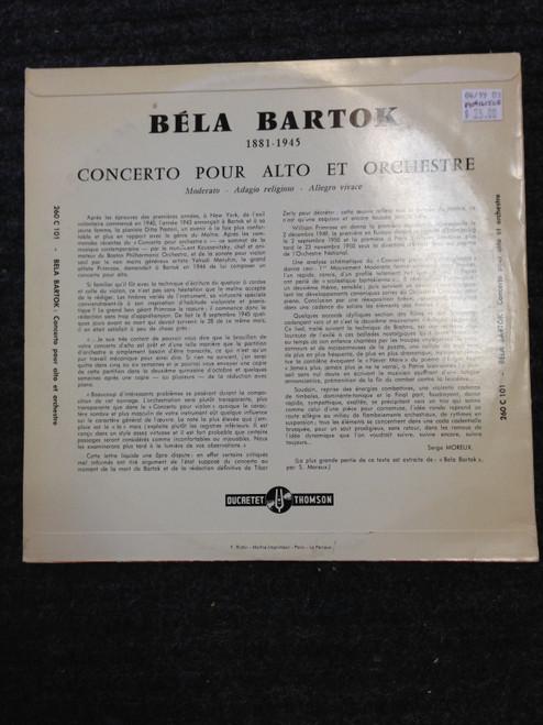 Bartok Concerto for Orchestra  RARE DucretetThomson   LP