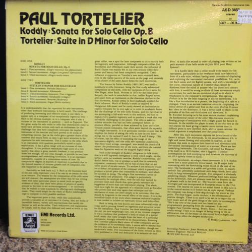 Paul Tortelier, Kodaly & Tortelier Cello LP