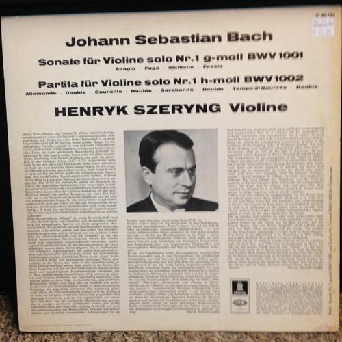 Bach, Henryk Szeryng Violine LP