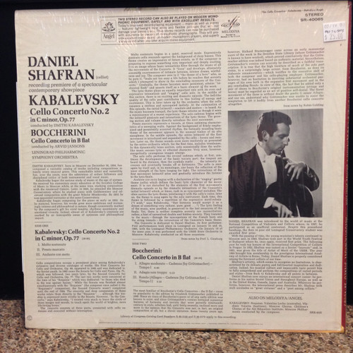 Kabalevsky, Cello Concerto No2, LP