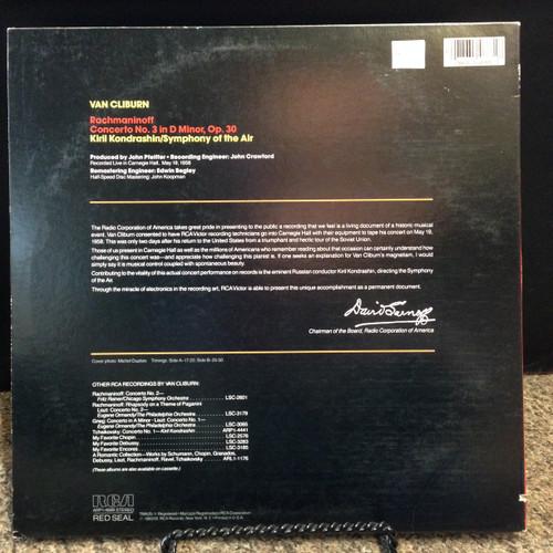 Rachmaninoff No3  Van Cliburn 1/2 Speed Mastered ARP1-4688 LP